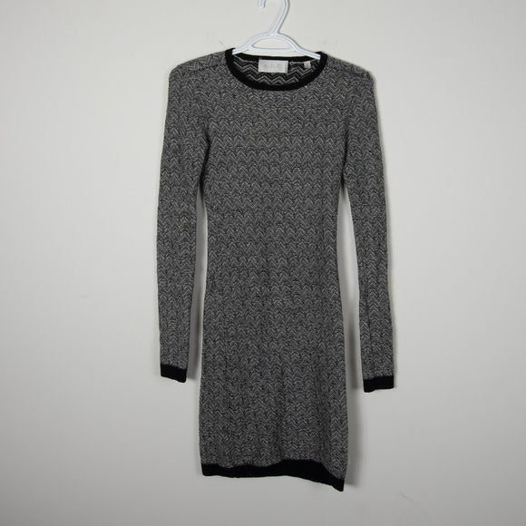 A.L.C. Dresses & Skirts - A.L.C. Wool Sweater Dress Black White Knit XS